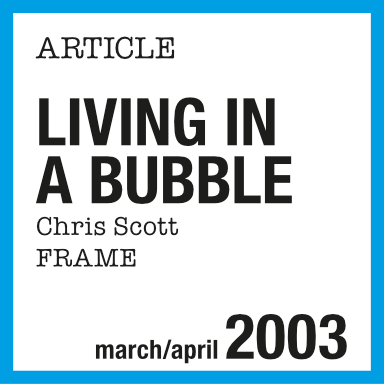 Article de presse : Courrèges, living in a bubble, Frame 2003